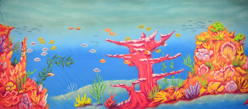 Grosh Undersea Coral backdrop used in productions of The Little Mermaid
