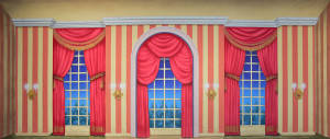 Victorian Parlor with Stripes Backdrop