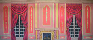Pink Victorian Parlor Backdrop