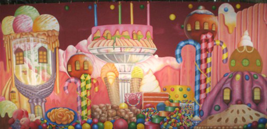 Village of the Sweets Backdrop