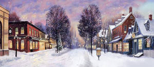 Winter Small Town Backdrop