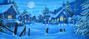 Grosh Winter Village Backdrop