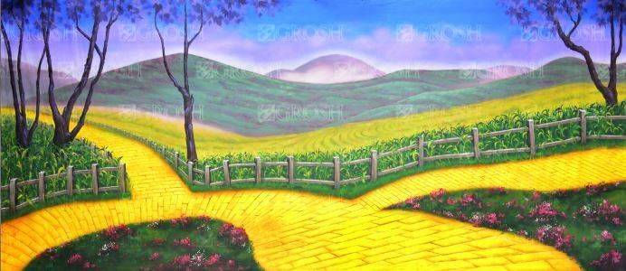 Wizard of Oz Yellow Brick Road Backdrop