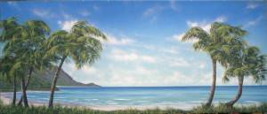 Tropical Beach Cove Backdrop