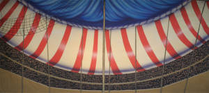 Circus Tent Interior Backdrop & Circus Tent Interior u2013 Circus Backdrop | Grosh Backdrops and Drapery
