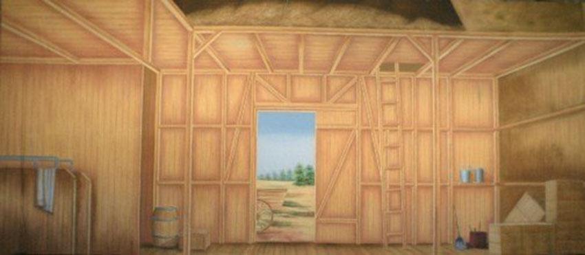 Barn Interior Backdrop