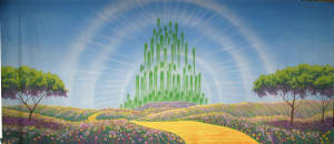 Emerald City with Yellow Brick Road Backdrop