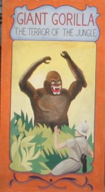 Giant Gorilla Circus Banner Backdrop
