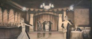Jazz Club Interior Backdrop