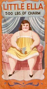 Little Ella Fat Lady Circus Banner Backdrop