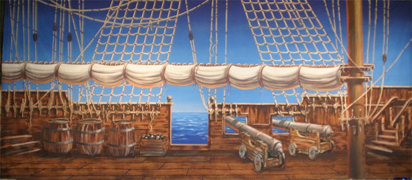Pirate Ship Deck Backdrop Pirate Ship – Theatr...