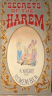 Secrets of the Harem Circus Banner Backdrop