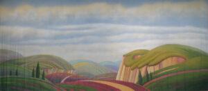 Stylized landscape Backdrop