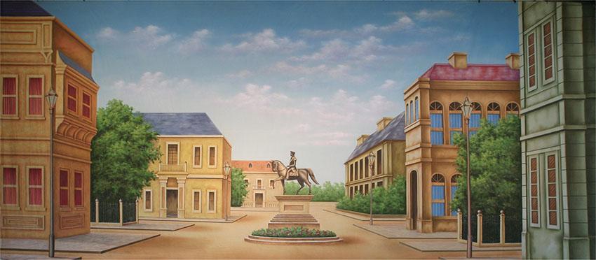 Town Square Backdrop