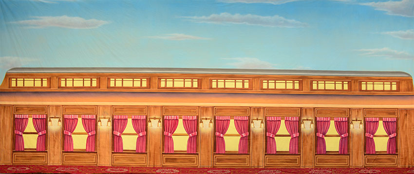 train car interior backdrop es7782 grosh backdrops. Black Bedroom Furniture Sets. Home Design Ideas