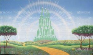 Emerald City Exterior backdrop for Wizard of Oz play