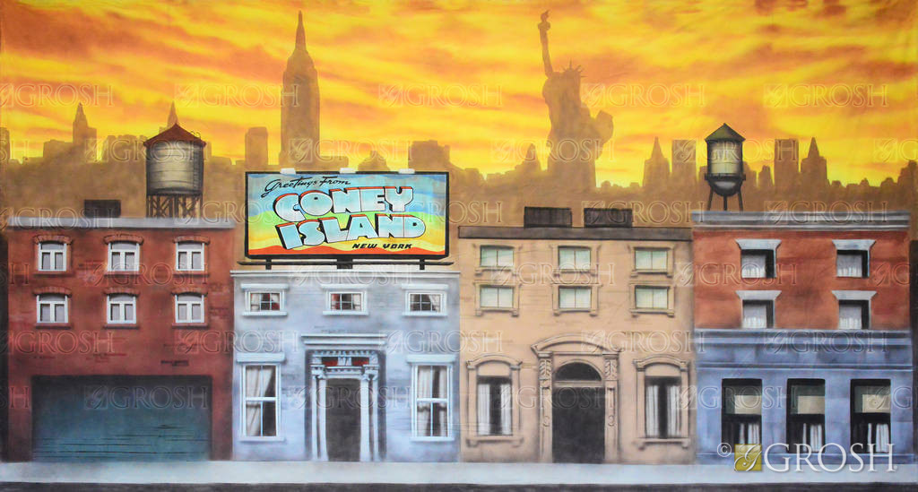 New York Street backdrop