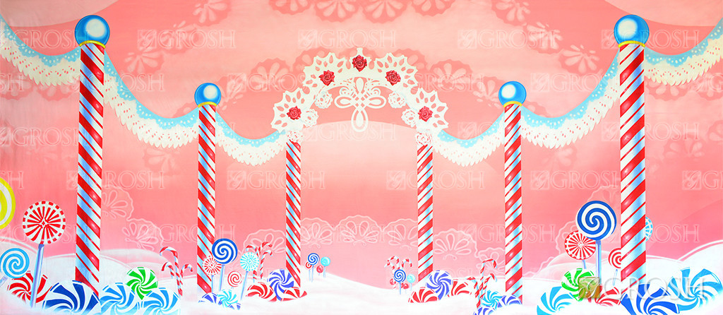 Lace Candyland backdrop