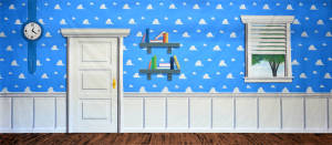 Andy's room backdrop for Toy Story