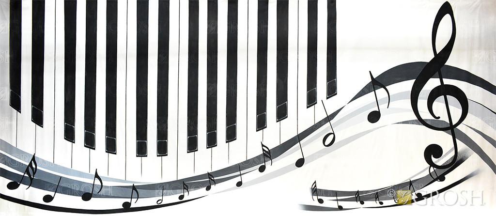 Piano Notes and Keys backdrop