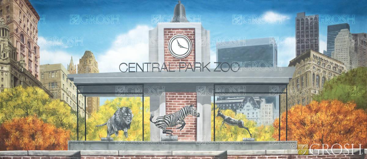 Central Park Zoo backdrop