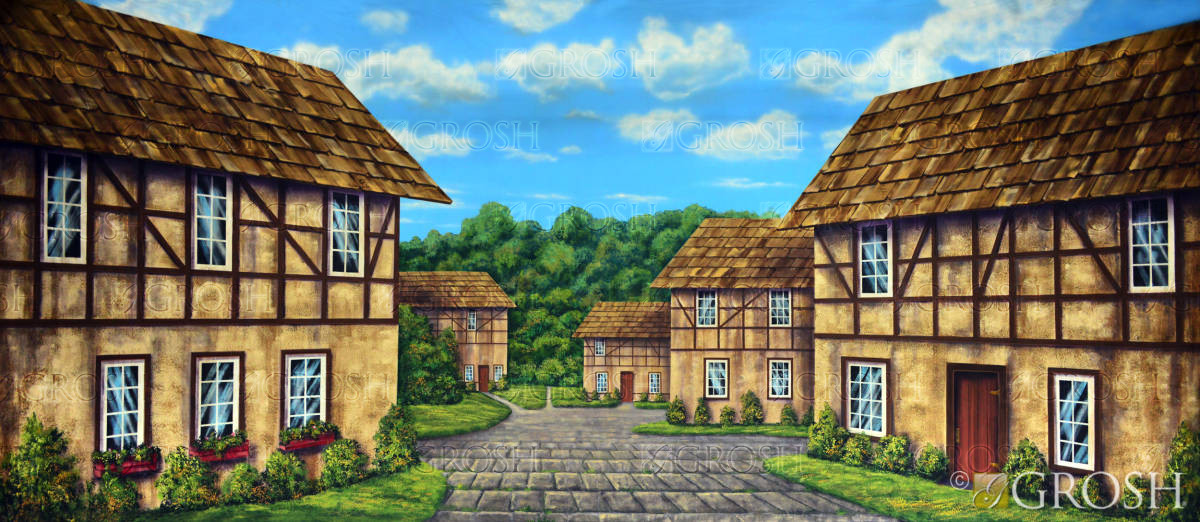 European Village Theatrical Backdrops Grosh