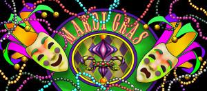Mardi Gras Masks backdrop