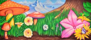 Thumbelina Theatrical Backdrop for the Tom Thumb Play