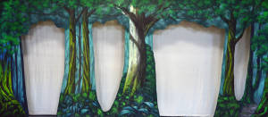 Disney Forest Backdrop for Peter Pan, Sleeping Beauty, Pinocchio, Robin Hood, Snow White, and other school plays