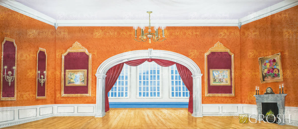 Beautiful Victorian Parlor used in backdrop Nutcracker productions