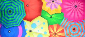 Colorful Umbrellas Backdrop for Dance performance