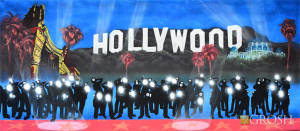 Hollywood Paparazzi backdrop used in all Hollywood Events