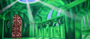 Oz Emerald City Interior backdrop for Wizard Oz, The Wiz and Wicked plays and productions