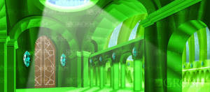 Oz Emerald City Interior backdrop for Wizard of Oz, The Wiz and Wicked plays and productions