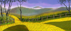 Follow this yellow brick road to your show The Wizard of Oz