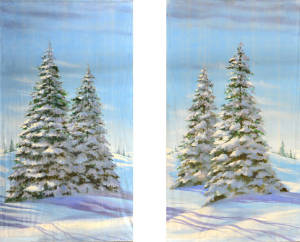 Day Snow Leg Set backdrops for Nutcracker, Christmas, Frozen and Winter themed plays and productions