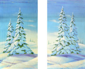 Day Snow Leg Set backdrops for Nutcracker, Frozen, Christmas and Winter themed plays and productions