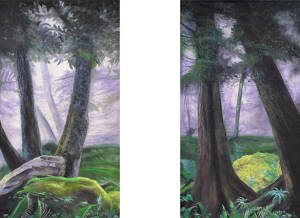 Forest Leg Panel Set for The Jungle Book, Tarzan, The Lion King, Into the Woods, foliage, Narnia, Lord of the Rings plays and productions