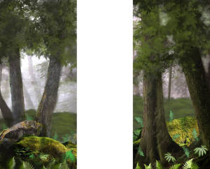 Forest Panel Leg Sets for Forest Panel 1 depicts a peacefully, quiet forest. At the center of the panel is a small creek surrounded by lush greens, mossy rocks and trees. These images make the Forest Panel 1 backdrop a great addition to productions like The Jungle Book, Tarzan, and The Lion King. *Backdrop is currently being painted, picture is of the same design* In need of a room wrap then look at these three other drops ES8145, ES8146, and ES8147 Keywords: backdrop, backdrops, jungle, forest, forest panel, jungle foliage, The Jungle Book, Tarzan, The Lion King, Into the Woods, foliage, Narnia, Lord of the Rings plays and productions