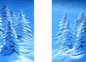 Snow Landscape Legs backdrops for Frozen, Nutcracker, Christmas Carol, Clara's Gift plays and productions